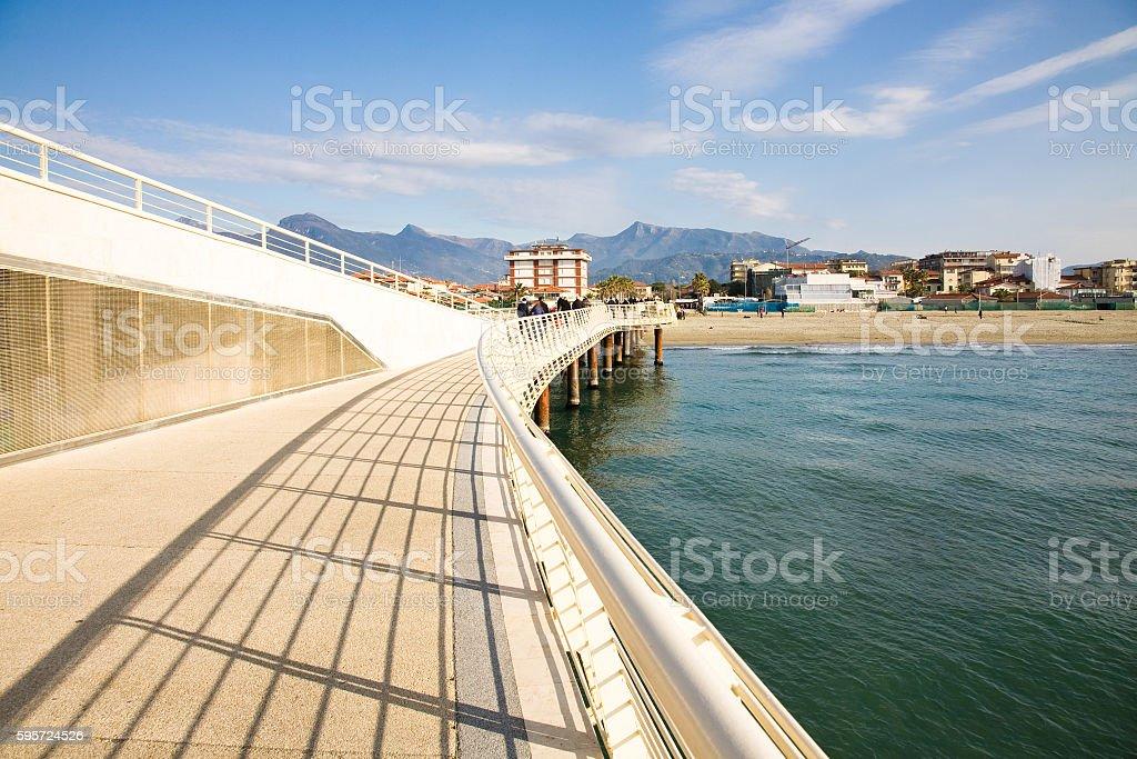 Viareggio pier, Italy stock photo