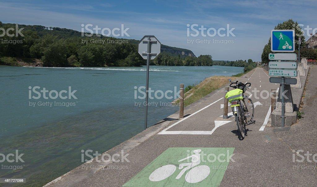 ViaRhona bike route stock photo