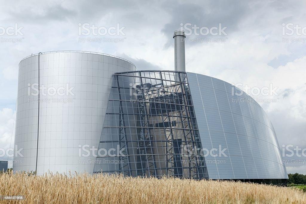 Viborg thermal power station in Denmark stock photo