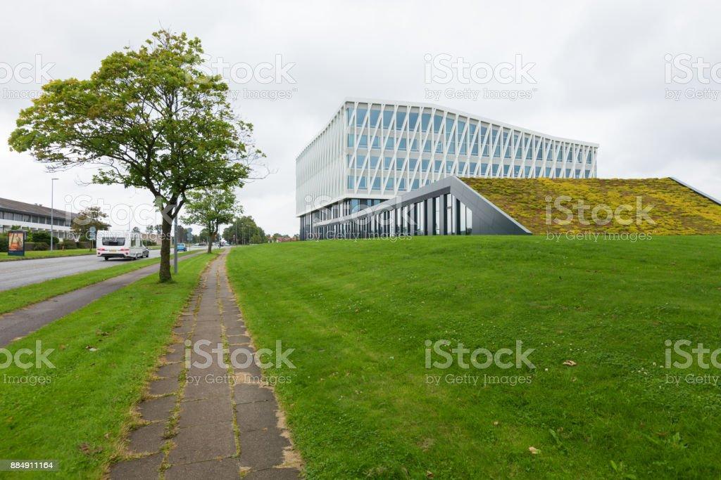 viborg town hall, exterior stock photo