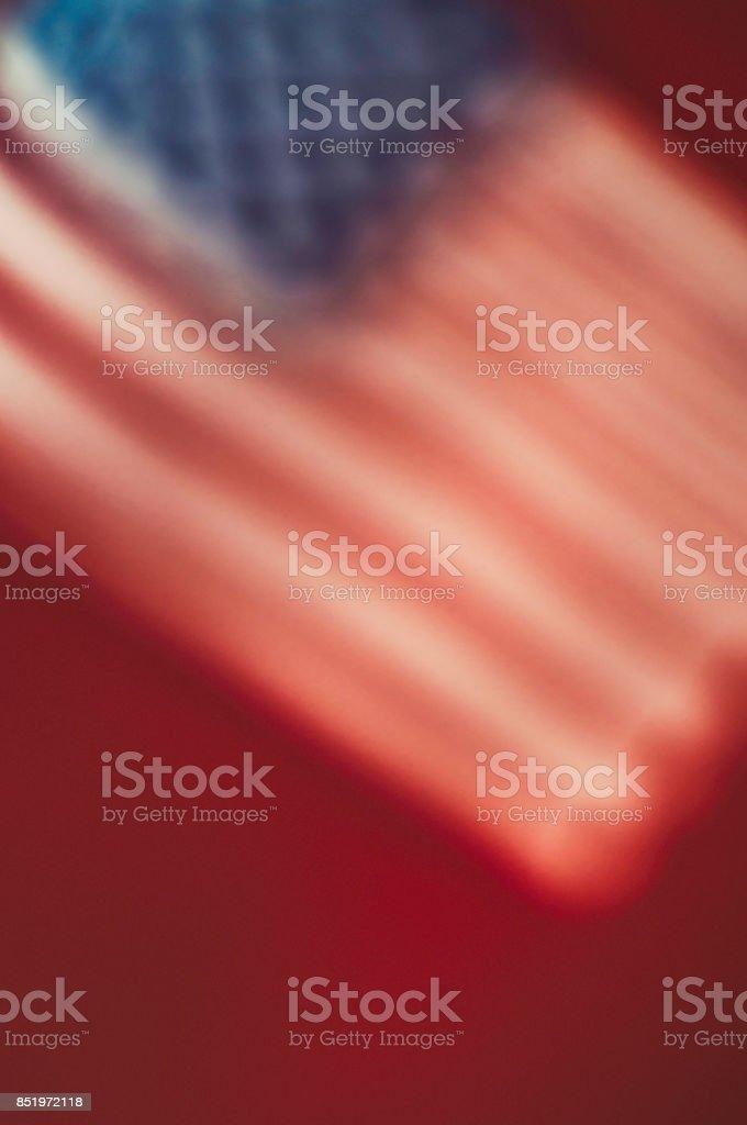 Vibrant American flag border for patriotic background stock photo