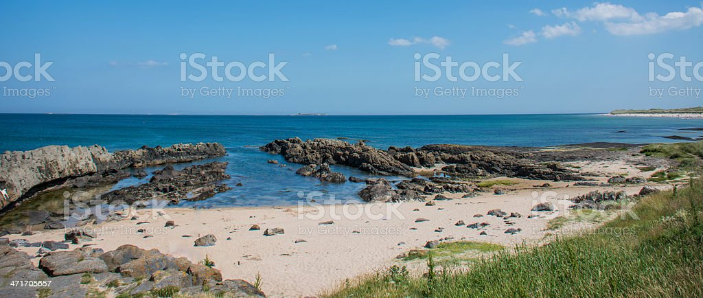 Vibrant beach landscape royalty-free stock photo