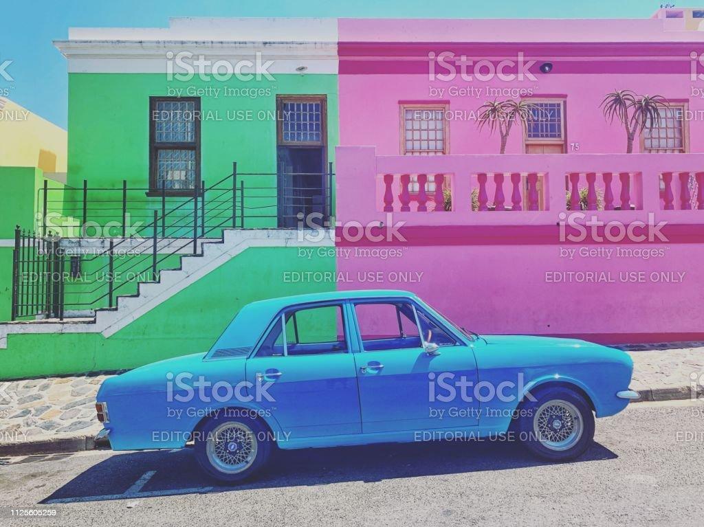Vibrant Bo-Kaap Capetown South Africa stock photo