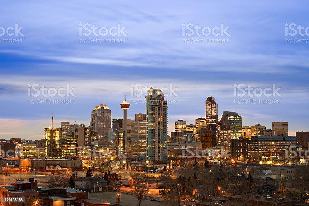 Vibrant Calgary Skyline stock photo