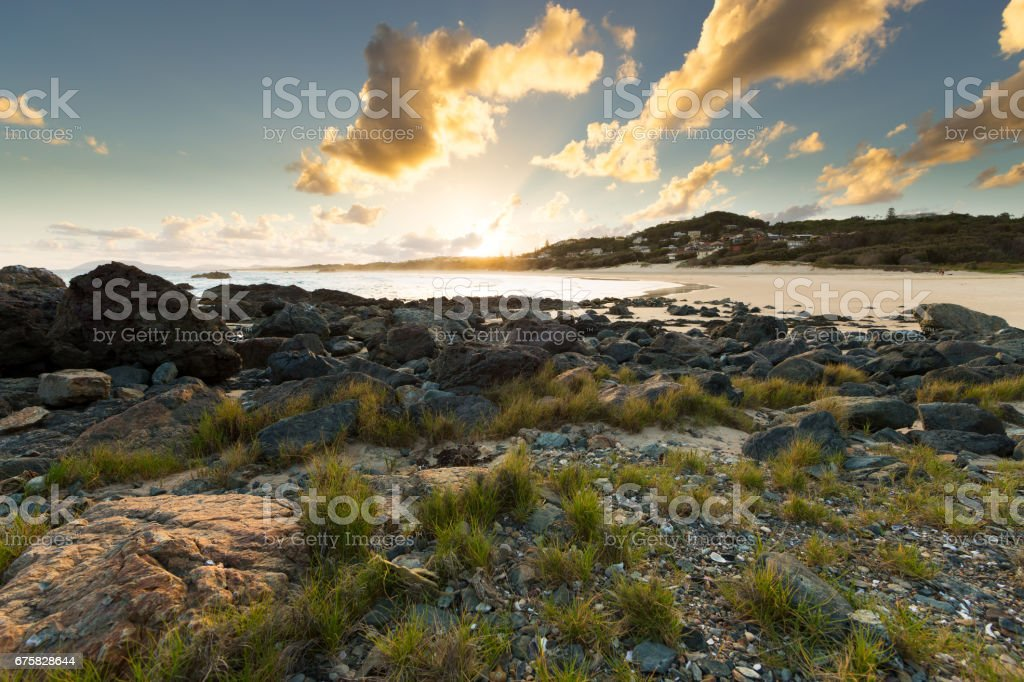 Vibrant Coastal Sunset stock photo