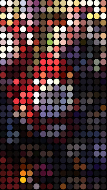 art abstrait couleurs vives - demi cercle photos et images de collection