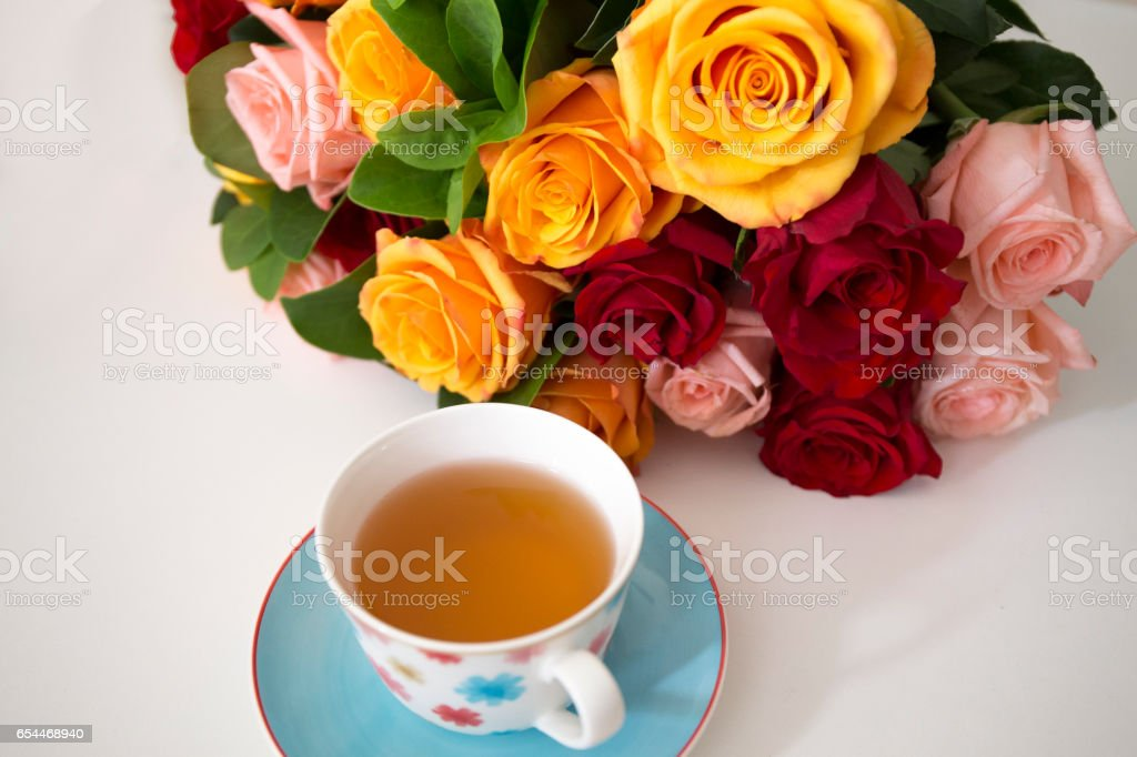 Vibrant Color roses stock photo