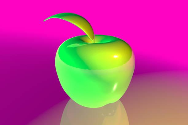 Vibrant Colored Apple stock photo