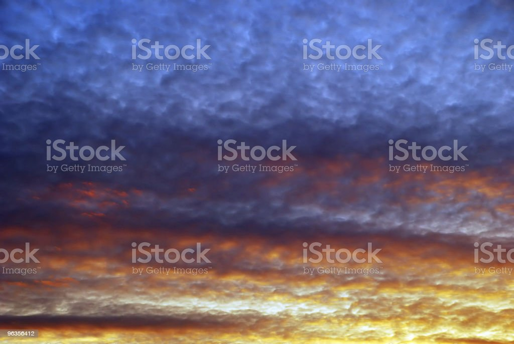 Vibrant Colorful Sunset royalty-free stock photo