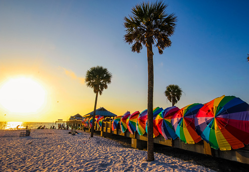 istock Vibrant colors of Clearwater beach, Florida 502587594