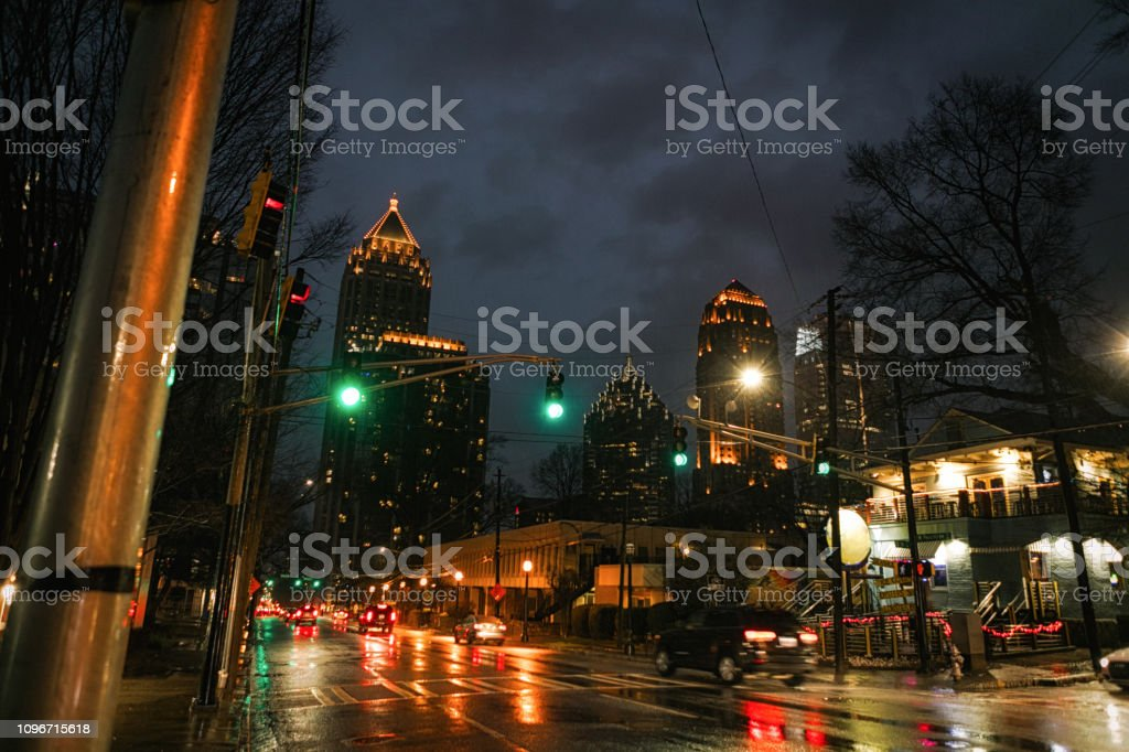 vibrant colors of the night stock photo