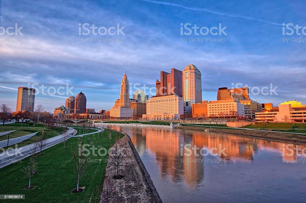 Vibrant Columbus, Ohio stock photo