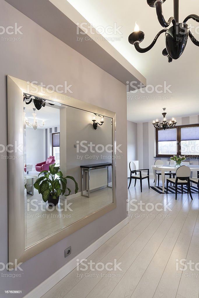 Vibrant cottage - huge mirror royalty-free stock photo