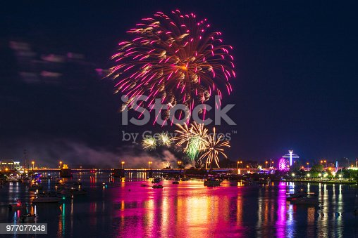 855125304 istock photo Vibrant Fireworks Display 977077048