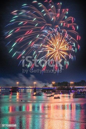 855125304 istock photo Vibrant Fireworks Display 977086598