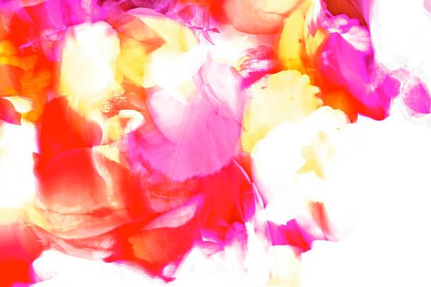 leuchtenden hellen farben - blumendrucktapete stock-fotos und bilder