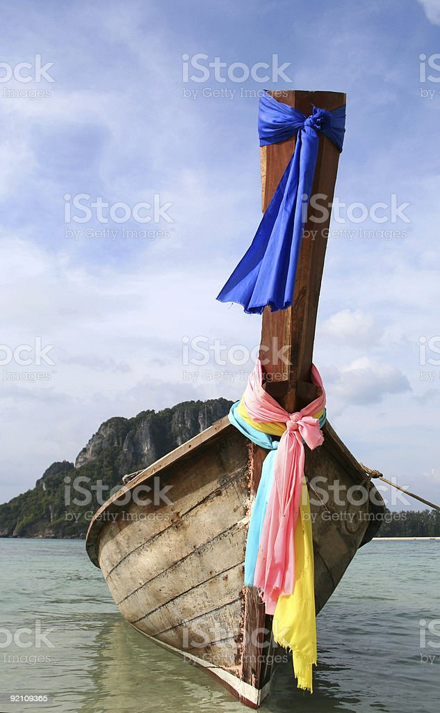 Vibrant Long Boat royalty-free stock photo