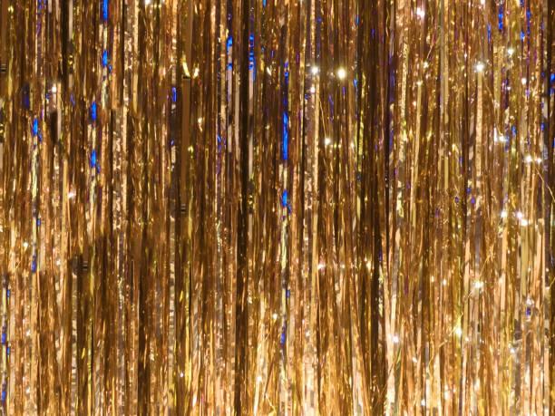鮮やかな金属箔見掛け倒しの背景 - glitter curtain ストックフォトと画像