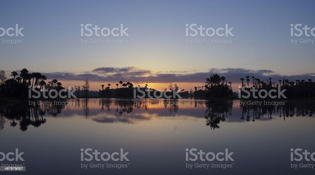 Vibrant Orlando Sunrise stock photo