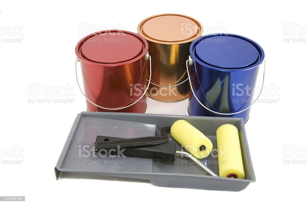 Vibrant Paint Cans royalty-free stock photo