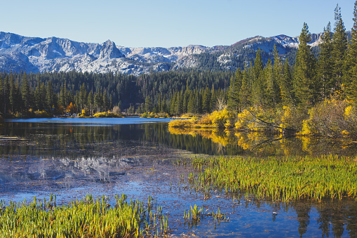 istock Vibrant panoramic summer view of Lake George near Twin Lakes, Mammoth Lakes, California, United States 1071592244