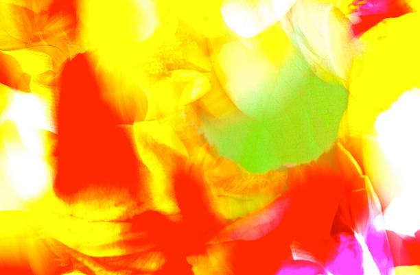 lebhafte pantone farben - blumendrucktapete stock-fotos und bilder