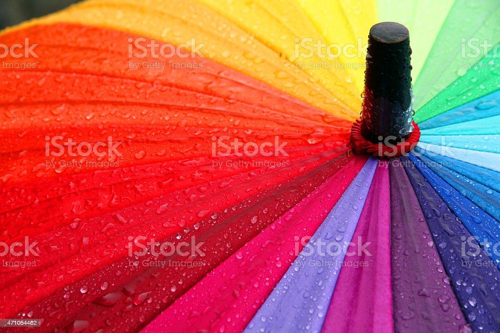 Vibrant Rain stock photo