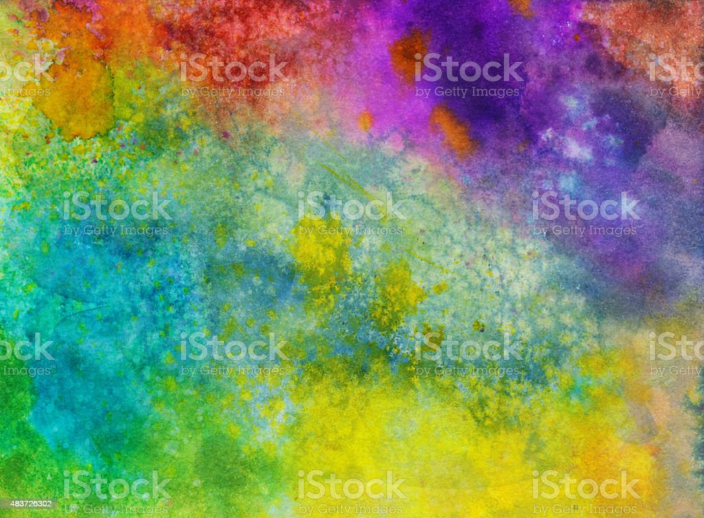 Vibrant rainbow colored textured background stock photo