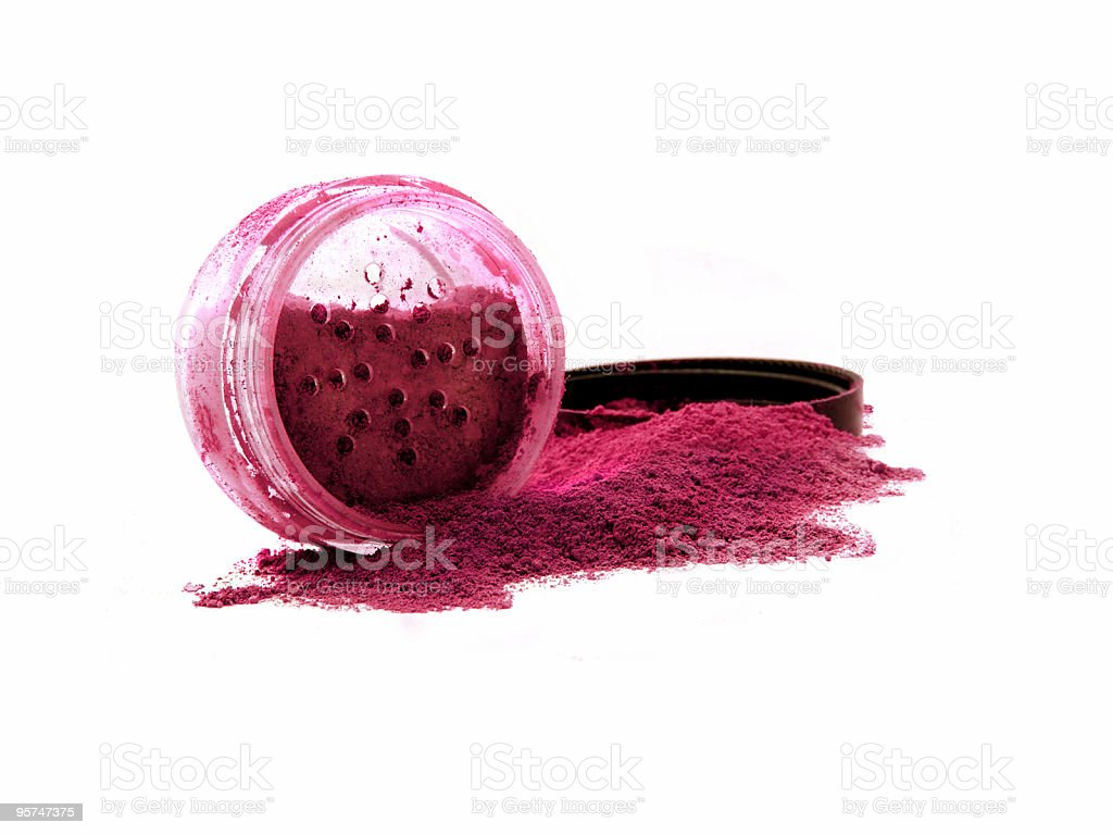 Vibrant red mineral make-up stock photo