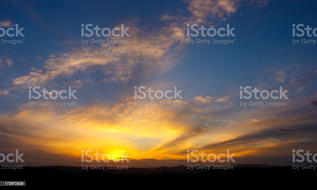 Vibrant Sky XXL - 135 Megapixel royalty-free stock photo