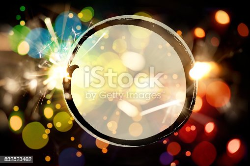 istock Vibrant Sparkler Background With Copy Space For Your Text Message 832523462