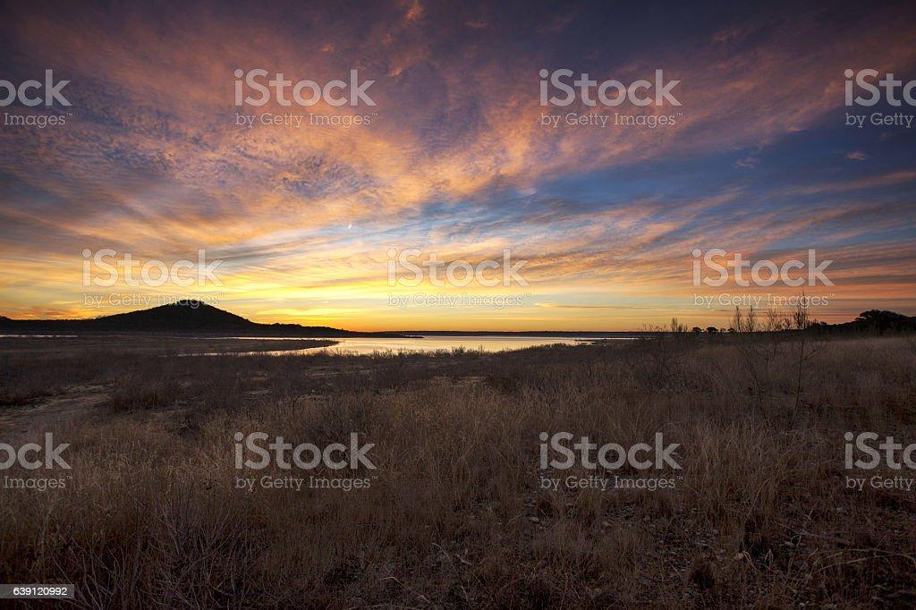 Vibrant Sunrise stock photo