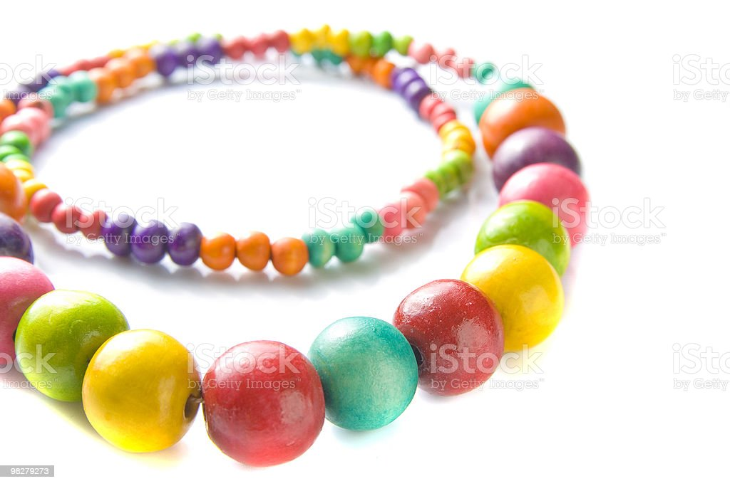 Vibrant wooden necklace royalty-free stock photo