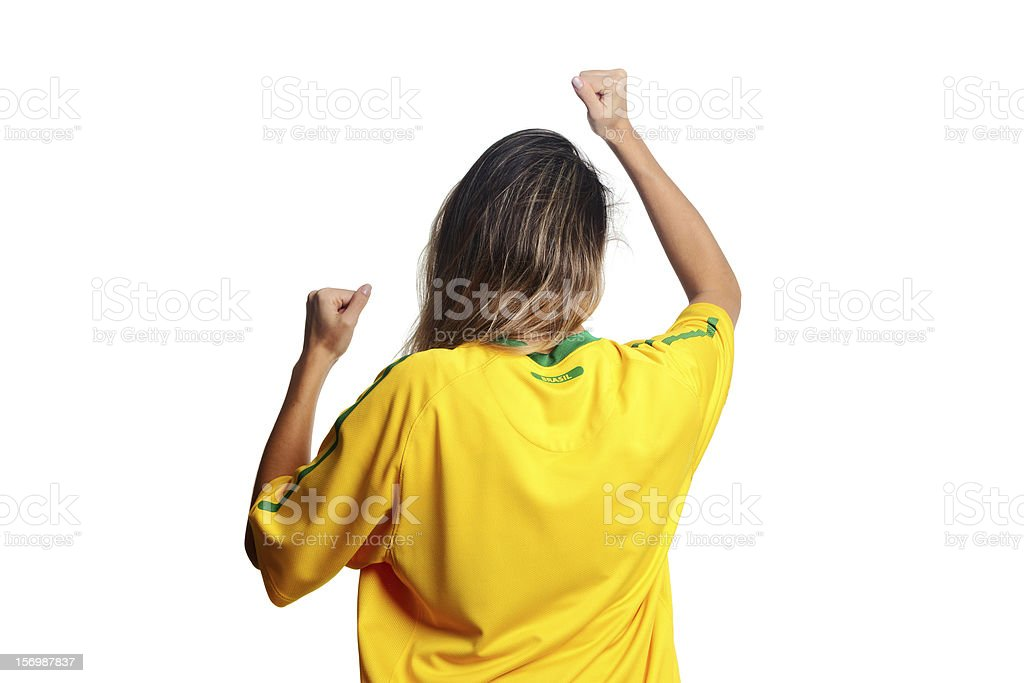 Vibrante para time de futebol do Brasil - foto de acervo