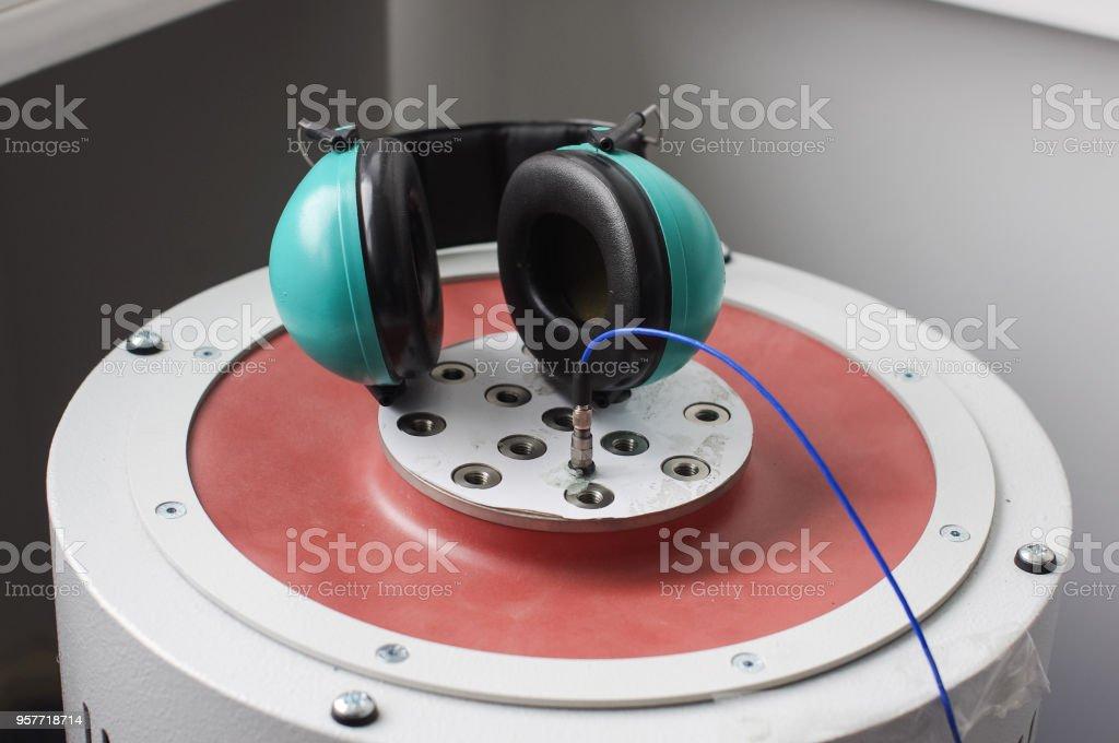 Vibration system shaker stock photo