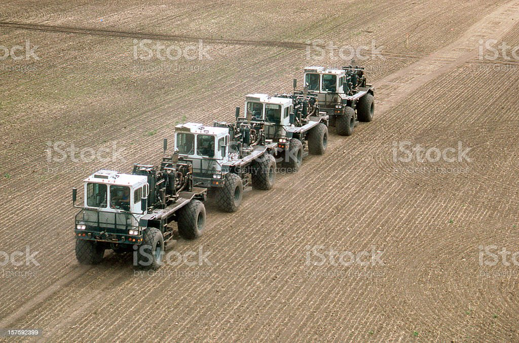 Vibroseis Trucks royalty-free stock photo