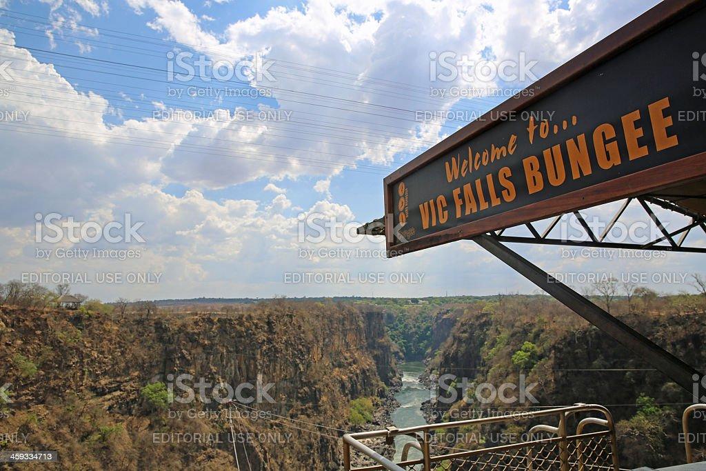Vic Falls Bungee stock photo