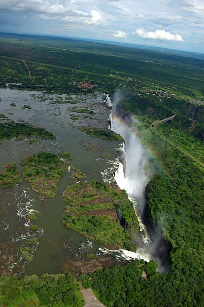 Vic Falls Rainbow stock photo