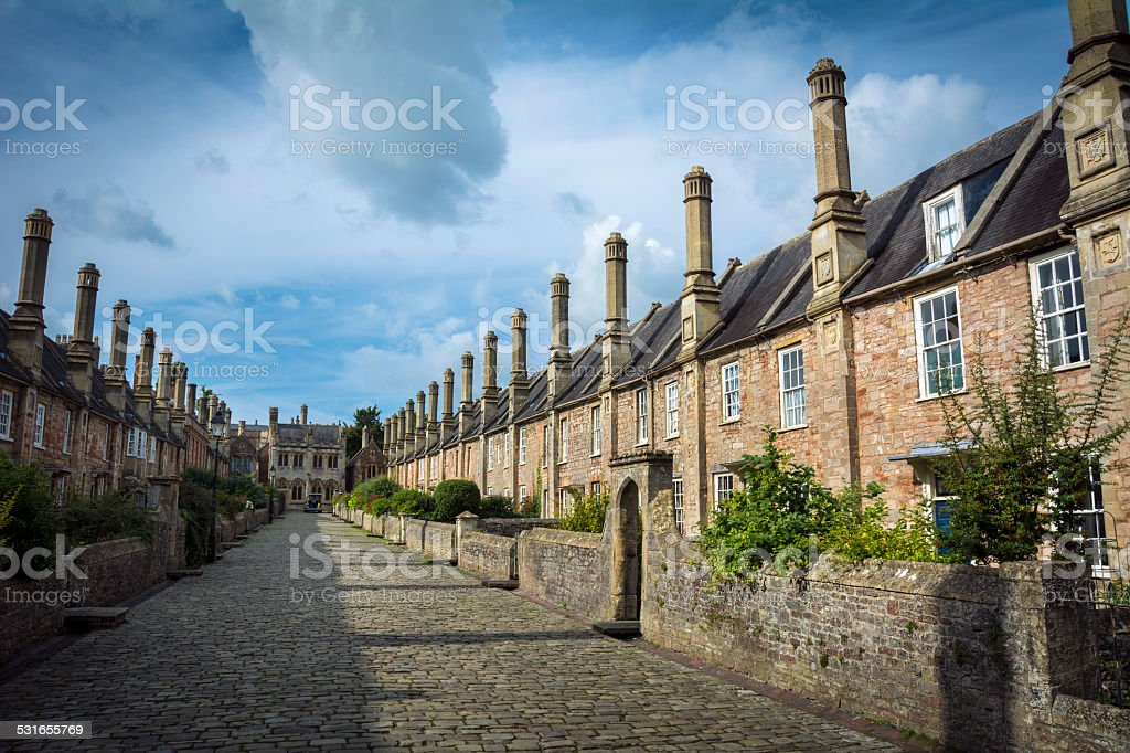 Vicars Close in Wells stock photo