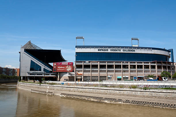 Vicente Calderon Stadium - Madrid stock photo