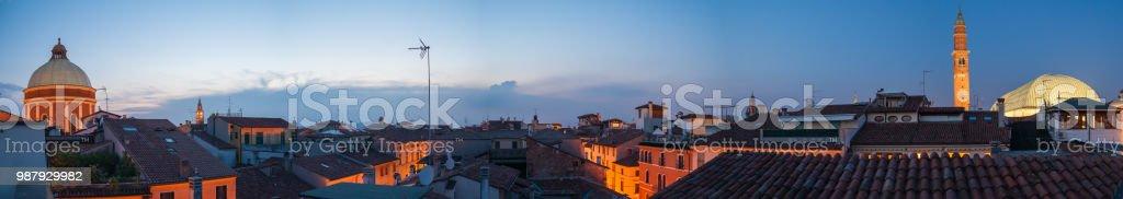 Vicenza at dusk - foto stock