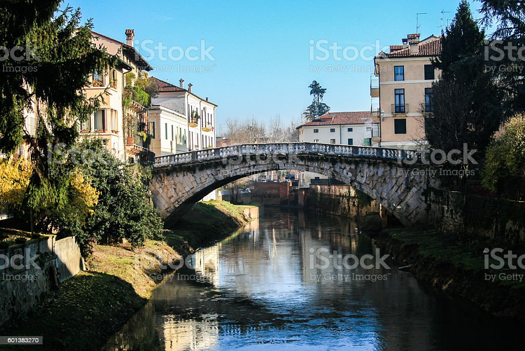 Vicenza, ponte san Michele stock photo