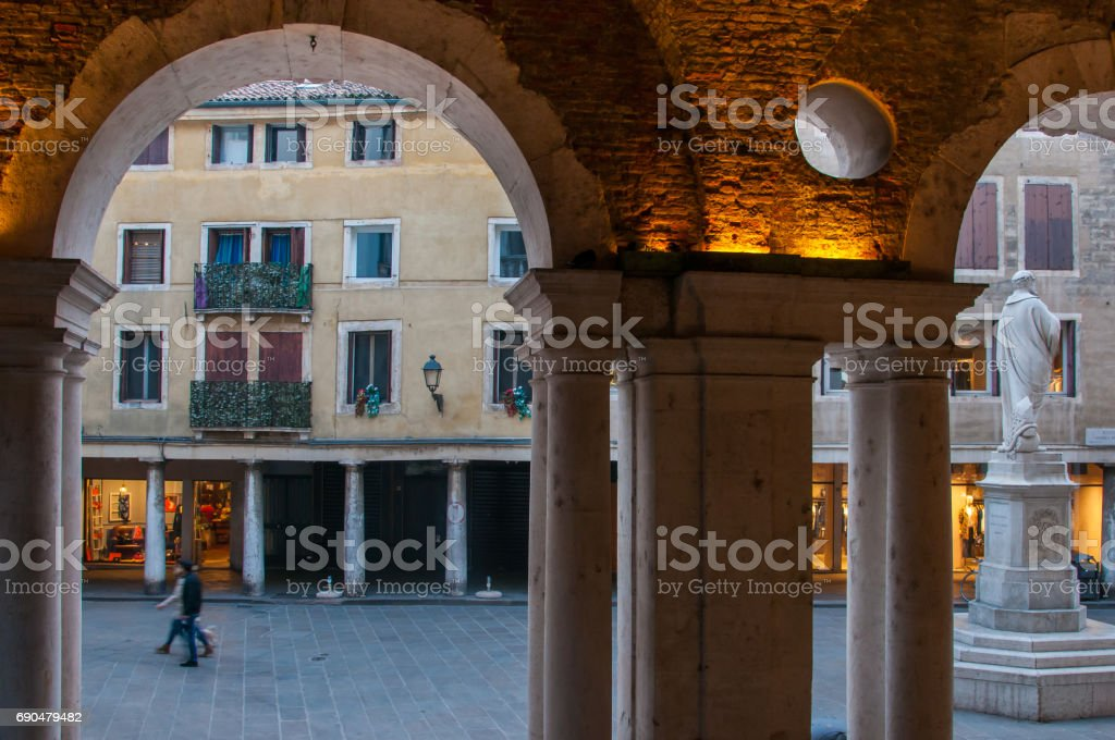 Vicenza by night stock photo