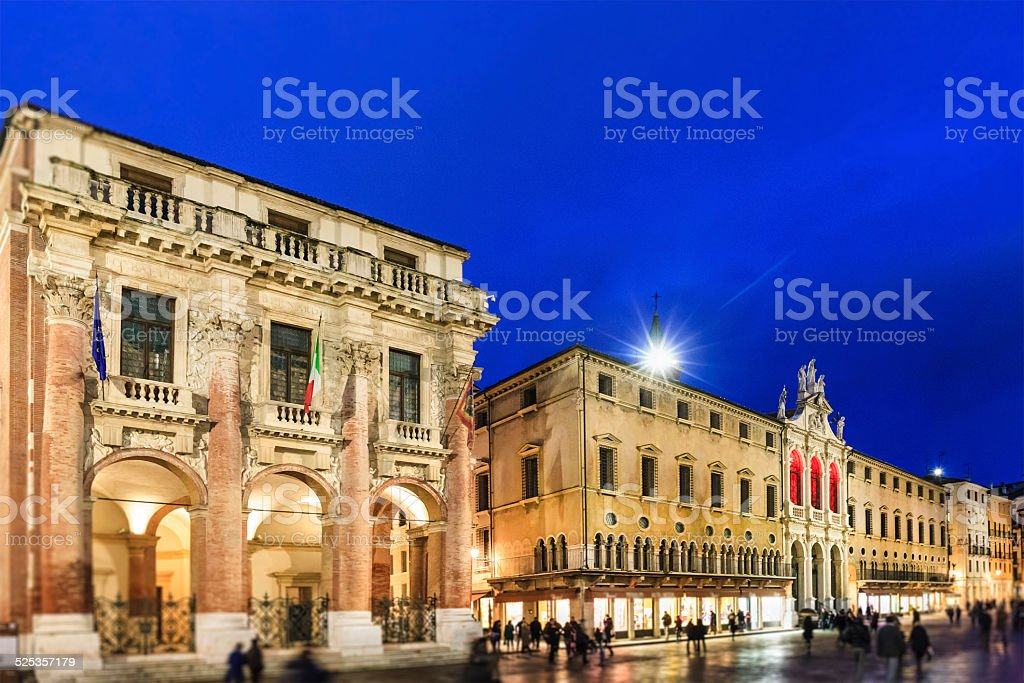 Vicenza, Loggia del Capitanio, Italy stock photo
