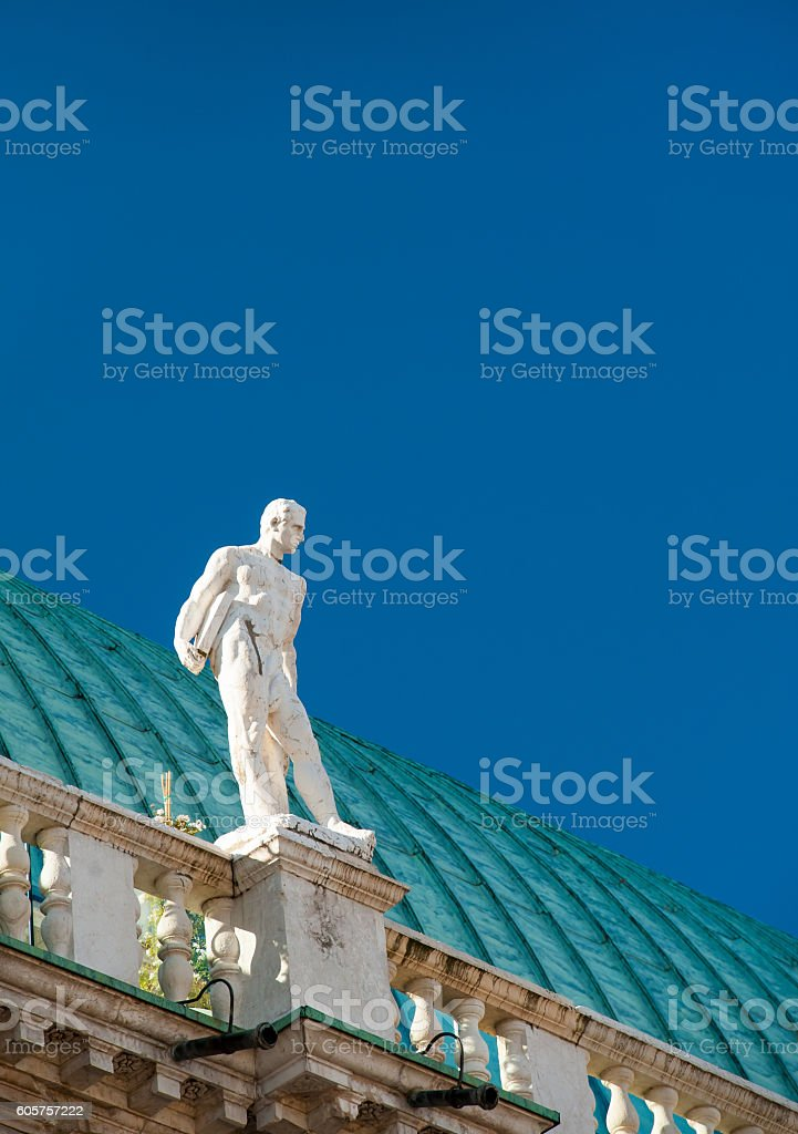 Vicenza sculptures stock photo