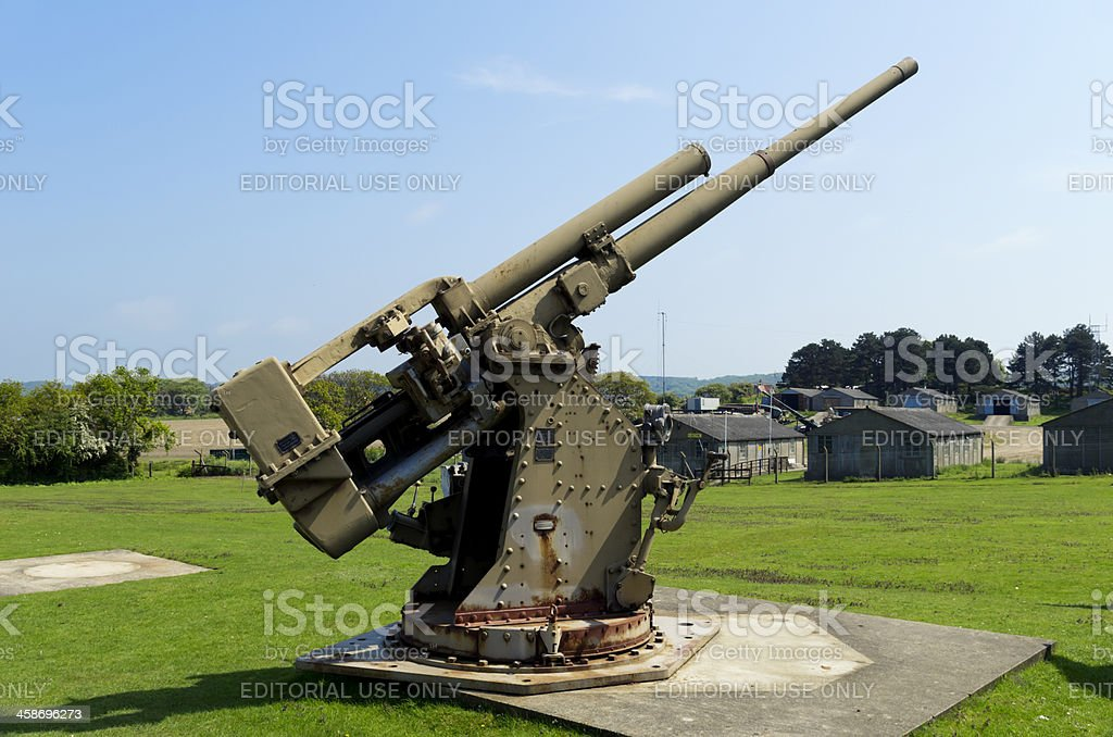 Vickers-Armstrong gun royalty-free stock photo