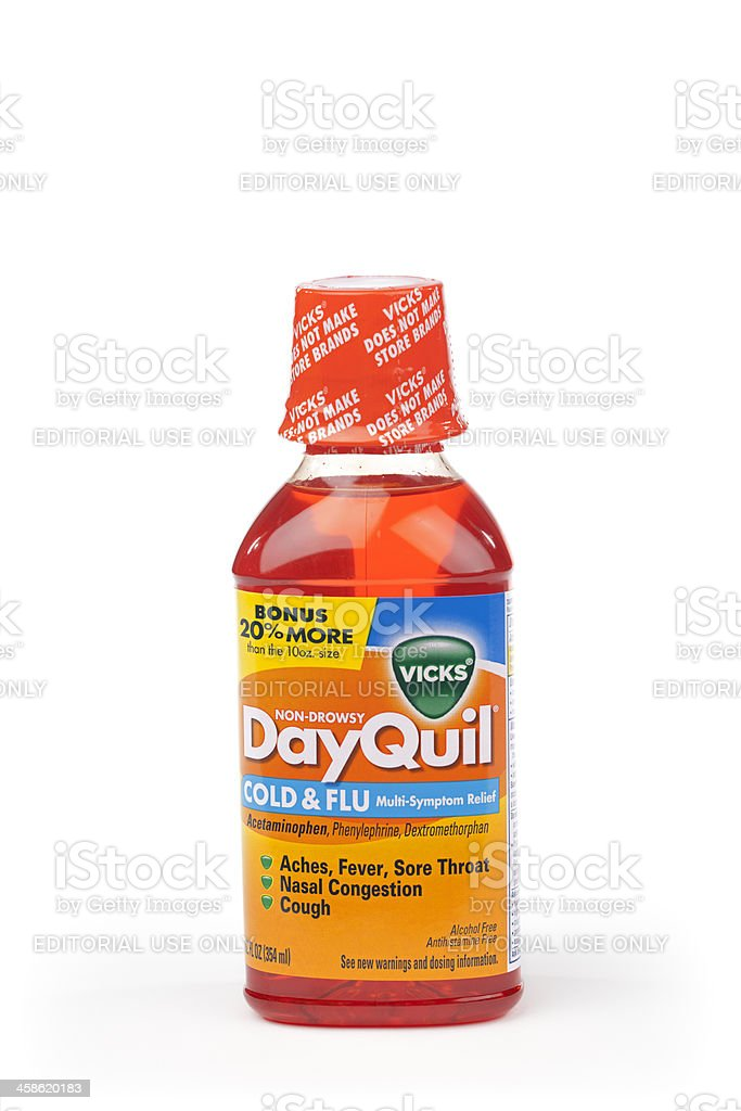 Vicks DayQuil Cold and Flu Medicine stock photo