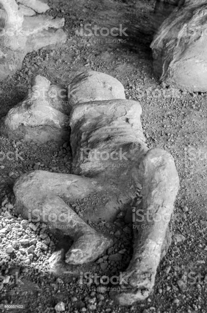 victim in pompeii of the eruption of mt vesuvius stock photo