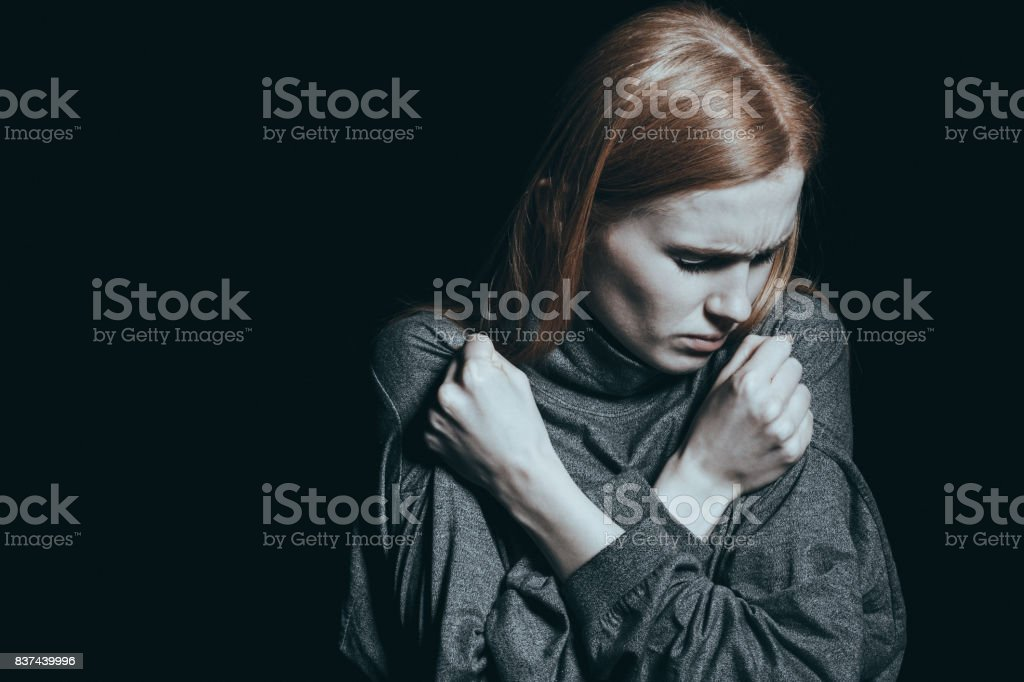 Victim of sexual violence stock photo