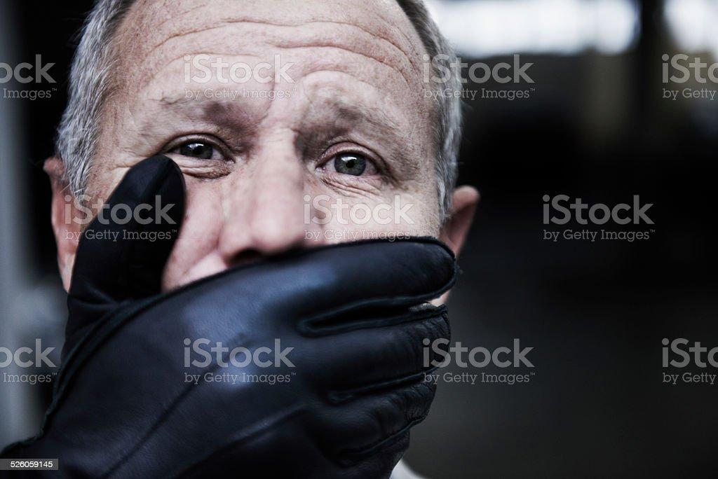 Victim of violence stock photo